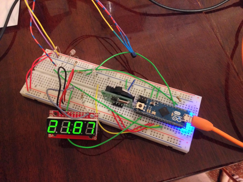 схема термометра на msp430